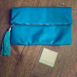 Shiraleah Teal Santana Fold Clutch Purse